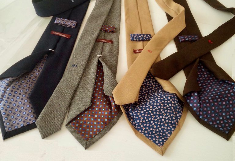 some four-fold ties made by opsak wool and silk