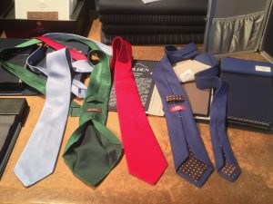 some seven-fold ties made by silk