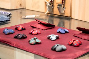 some cufflinks made by silk