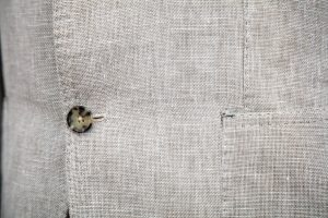 patch pocket and handmade stitching